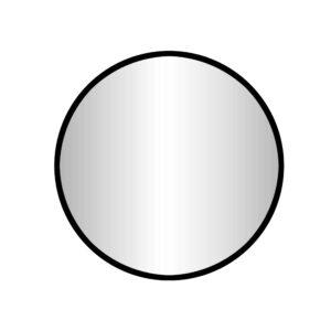 """Best-Design """"Goslar-Nero"""" ronde spiegel Ø 80 cm"""