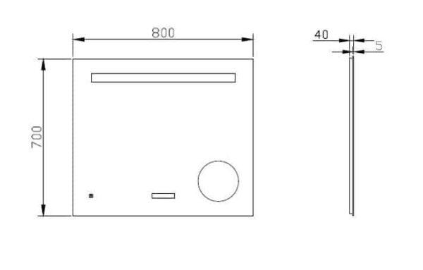 Best-Design Spiegel technische tekening afmetingen 3