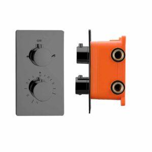 """Best-Design """"Moya"""" Inbouwthermostaat inb.box 2-weg 1/2"""" gunmetal"""