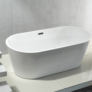 Acryl vrijstaande bad incl. sifon