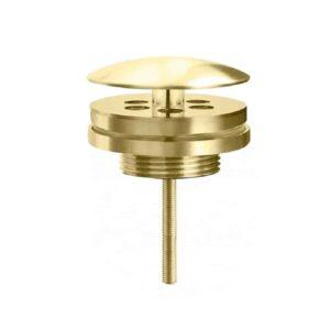 "Afvoer plug ""Roma"" low fontein 54″ mat-goud"