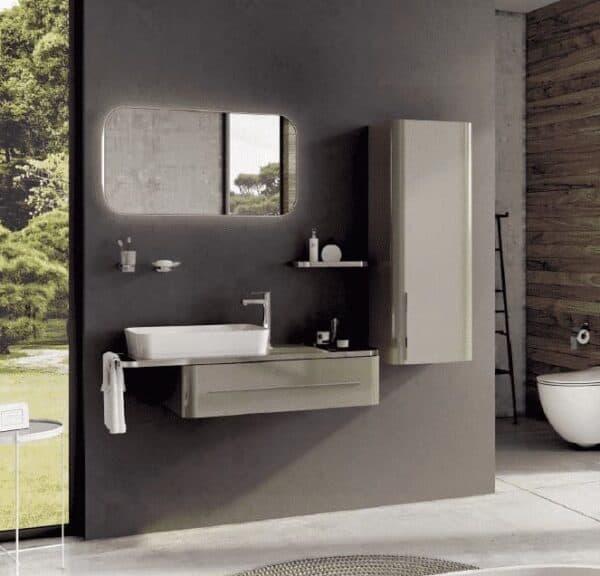 Badkamer meubel Angel Chroom 120x85x50cm