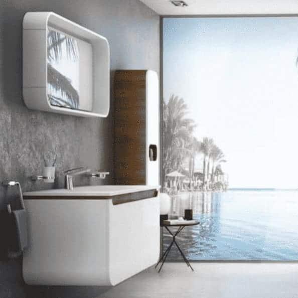 Badkamermeubel met wastafel Pion