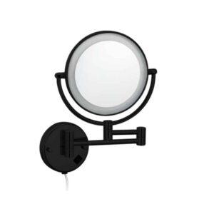 """Best-Design """"Black-Steiner"""" wand cosmeticaspiegel incl. LED verlichting """"Nero"""" mat-zwart (1)"""