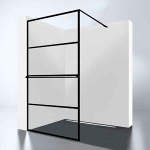 "Best-Design inloopdouche Walk-In ""Noire 900 screen"" 90×200 cm mat zwart"