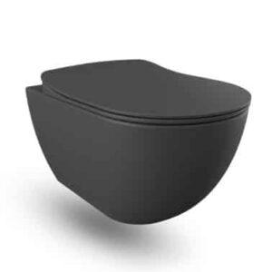 Creavit wandcloset zwart mat Rimless FE322.H0100 2