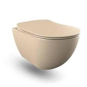 Creavit wandcloset cappuccino mat met spoelrand FE320.F0100