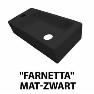 """Fontein """"Farnetta"""" Links 37x18x9cm mat-zwart"""