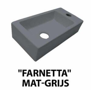"""Fontein """"Farnetta"""" Rechts 37x18x9cm mat-grijs"""