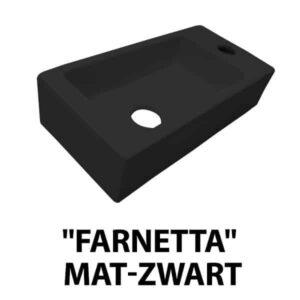 """Fontein """"Farnetta"""" Rechts 37x18x9cm mat-zwart"""