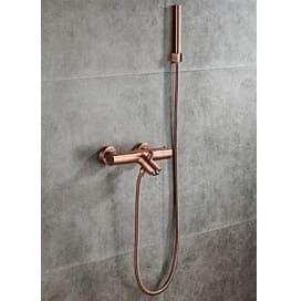 Saniclear copper thermostatisch badkraan met handdouche geborsteld koper