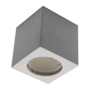 GU10 Fitting Square Gypsum White