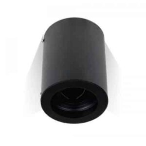 GU10 Fitting Surface Round Black
