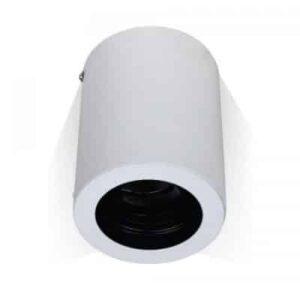 GU10 Fitting Surface Round White