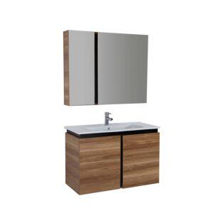 badkamermeubel met spiegel Verti 100x85x45cm