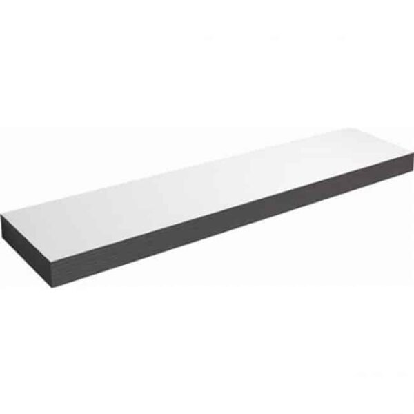 Badkamermeubel Set Clou 70cm Wit/Zwart met 2 Kolomkasten en 2 Ladekasten wasblad zijplank 2