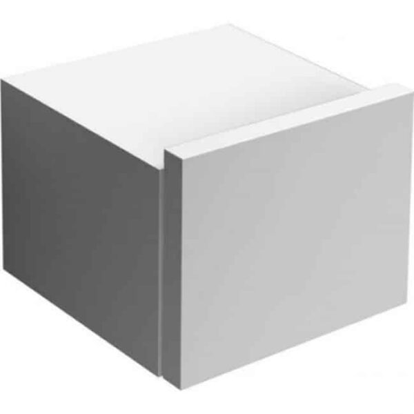 badkamermeubel-set-clou-one-click-150cm-wit-zwart-met-1-kolomkast-en-1-ladekast