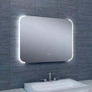 Badkamerspiegel Bracket 80x60cm Geintegreerde LED Verlichting Verwarming Anti Condens Touch