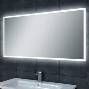 Badkamerspiegel Quatro 80x60cm Geintegreerde LED Verlichting Verwarming Anti Condens Lichtschakelaar