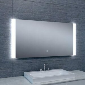 Badkamerspiegel Sunny 120x60cm Geintegreerde LED Verlichting Verwarming Anti Condens Touch Lichtschakelaar