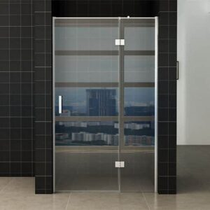 Douchedeur Miami Nisdeur Draaideur Vaste Wand 100(60-40)x200cm Easy Clean