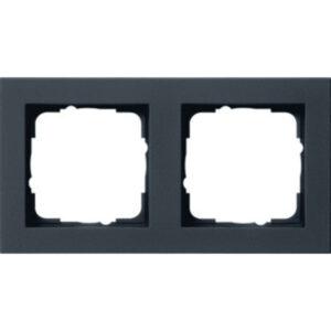Tweevoudig afdekraam van het merk Gira mat zwart