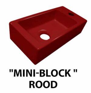 """Fontein """"Mini-block """" rood Rechts 37x18x9cm"""