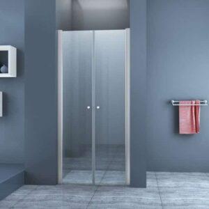 Pendeldeur met Glazen Douchedeur 90cm - Mania Helder GlasNisdeur met Draaideur - Antikalk en Verstelbaar