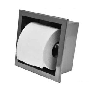 Toiletrolhouder inbouw rvs