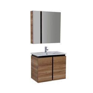badkamermeubel met spiegel Verti 80x85x45cm