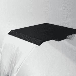 """Best-Design """"Dule-Nero-Mat-Zwart"""" waterval muuruitloop tbv.douche en bad"""