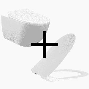 Creavit toiletpot incl. zitting zonder bidet zonder rand